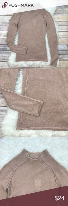 """NWT H&M Autumn Knit Sweater New with tags H&M Autumn Collection 2013 Knit Sweater. Size 4. Rolled Hem and cuffs. Machine washable. 45% polyamide, 28% Wool, 27% mohair. Bust 32""""-36"""", length 26"""". Mock neck, extra long sleeves. No trades, offers welcome. H&M Sweaters Cowl & Turtlenecks"""