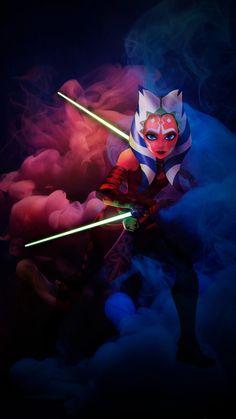 Asoka Tano, Star Wars Drawings, Art Diy, Star Wars Pictures, Star Wars Wallpaper, Star Wars Fan Art, Star Wars Gifts, Star Wars Clone Wars, Star Trek