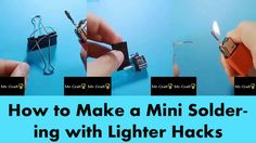 How to Make a Mini Soldering with Lighter Hacks