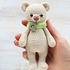 The Cuddle Me Bear Amigurumi Pattern will take you right back to childhood and make wonderful gifts for the kids you love!