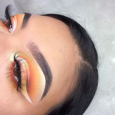 orangey reverse half cut crease inspired by @dumb.makeup :) || products used: @anastasiabeverlyhills medium brown dipbrow @anastasiabeverlyhills concealer @morphebrushes 35B eyeshadow palette @makeuprevolution golden lights highlighter @lagirlcosmetics warm beige foundation @physiciansformula butter bronzer @aliexpress.official lashes @rimmellondonus