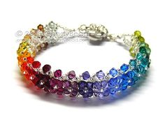 Swarovski Crystal Bracelet, I'd do this in a solid color or a gradient of one color.