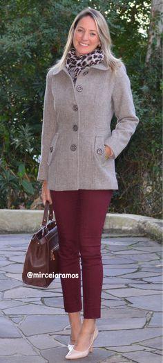 Look de trabalho - look do dia - look corporativo - moda no trabalho - work outfit - office outfit -  spring outfit - look executiva - fall outfit - calça marsala - casaco de lã - scarpin - look de inverno - Winter - executiva