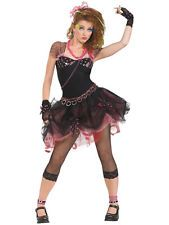 Adult Womens Uk 10-12 Eighties 80's Diva Madonna Fancy Dress Party Costume BN