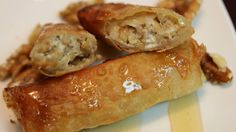 Sweet and savory cheese walnut spring rolls with honey - Moroccan style! - CookingWithAlia - Episode 322