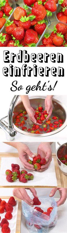 Erdbeeren einfrieren - so einfach geht's