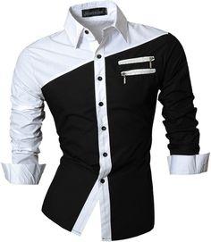 2016 Hombres Ropa de Hombres Diseñadores de Moda Estilo Sencillo Vestido de Camisa Casual Slim Fit Tendencia 4 Colores Sml XL XXL Z015
