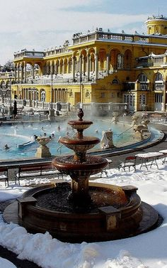 Széchenyi Baths, Budapest,  Hungary (by Tourism Office of Budapest)