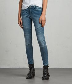 Explore our range of women's high waisted, boyfriend and straight leg jeans. Shop the latest arrivals with free delivery on UK orders over & free UK returns. Biker Jeans, Ankle Jeans, Ripped Jeans, Mom Jeans, Skinny Jeans, Lady Biker, Discount Clothing, All Saints, Aladdin