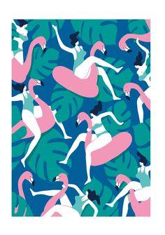 Flamingo party 1 par Quentin Monge