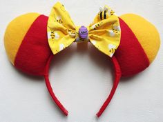 Winnie the Pooh Mouse Ears by TheseLittleBeauties on Etsy