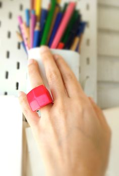 Wearable art ring 💍Wearable art ring it's not just a ring, it's also a miniature work of art. Geometric and minimalist. Geometric Artwork, Geometric Shapes, 3d Art, Style Box, Small Sculptures, Contemporary Jewellery, Oeuvre D'art, Etsy Handmade, Wearable Art
