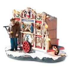 Typisch Hollands kerstdorp draaiorgel