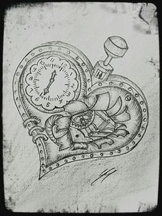 Broken steampunk heart. #drawing #steampunk #brokenheart