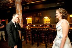 Grooms see their bride for the very first time, and their reactions are adorable. Wedding First Look, Wedding Day, Groom Reaction, Luxury Lifestyle Women, Women Life, Photojournalism, Happily Ever After, Black Tie, Wedding Signs