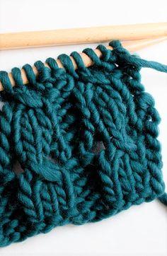 How to knit braided rib stitch