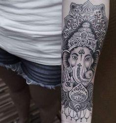hindu tattoo ganesha arm tattoo