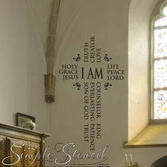 I Am Jesus wall art to adorn the walls of your Christian home or church during Easter or all year long.
