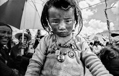 Black and white Photography of Tibet - Travel photography - Fine art photography of a young  nomad child.