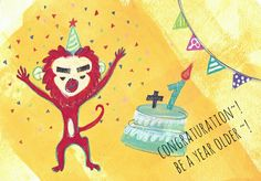 New year card!!  Next year is the Year of the Monkey by means of the chinese jodiac~:)