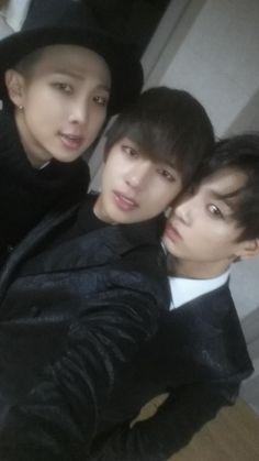 rap monster, v and jung kook