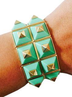 Fitbit Bracelet for Fitbit Flex - ANNA Green Stretch Studded Fitbit Bracelet - FREE SHIPPING  | FUNKtional Wearables