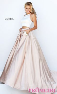 Prom Dresses, Celebrity Dresses, Sexy Evening Gowns: A-Line Halter Long Two Piece Prom Dress by Sherri Hill