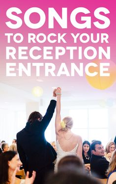 25 Unexpected Reception Entrance Songs That Will Guarantee a Good Time (A Practical Wedding) Wedding Reception Songs Dance, Best Wedding Songs, Wedding Party Songs, Wedding Playlist, Wedding Music, Wedding Ideas, Trendy Wedding, Wedding Stuff, Wedding Planning