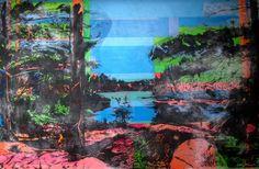 North 2 - Acrylics and photocopy transfer - Toronto 2014