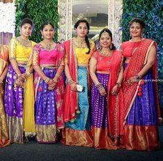 They lead a trail of beauty wherever they go. For Bookings contact - 9840767566 . Source by bojjasruthi Blouses Kids Lehenga Choli, Half Saree Lehenga, Kids Lehanga, Anarkali Dress, Saree Blouse, Half Saree Designs, Lehenga Designs, Kids Indian Wear, Kids Blouse Designs