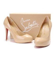 Туфли бежевого цвета от известного мирового бренда Christian Louboutin 0003678