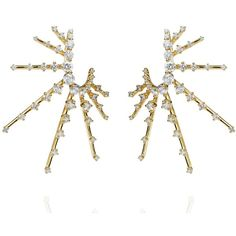 Fernando Jorge Radiant Spike Earrings (402.081.505 VND) ❤ liked on Polyvore featuring jewelry, earrings, drusy jewelry, druzy jewelry, diamond earrings, druzy earrings and earring jewelry