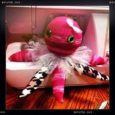 Stuffed Octopus  Sock Monster  stuffed animal  by PistolsPretties, $19.99