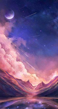 Night Sky Wallpaper, Wallpaper Space, Scenery Wallpaper, Aesthetic Pastel Wallpaper, Cute Wallpaper Backgrounds, Aesthetic Wallpapers, Iphone Backgrounds, Wallpaper Desktop, Disney Wallpaper