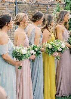 Shop Wedding Dresses, Bridesmaids, Bridal Gowns, Robes, and Formal Guests Yellow Bridesmaids, Summer Bridesmaid Dresses, Bridal Party Dresses, Brides And Bridesmaids, Bridal Gowns, Wedding Dresses, Bridesmaid Inspiration, Wedding Dress Shopping, Pink Yellow