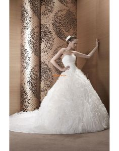 Buy Elegant Strapless Ball Gown Court Train Affordable Wedding Dress Pronuptia Paris Ariane 2013 at cheap price Wholesale Wedding Dresses, Wedding Dresses 2014, Affordable Wedding Dresses, Boutique, One Shoulder Wedding Dress, Ball Gowns, Most Beautiful, Prom, Bride