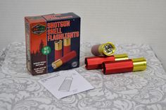 NEW 3 Pack CampCamo Aluminum Shotgun Shell Four LED Lights per Flashlight #CampCamo