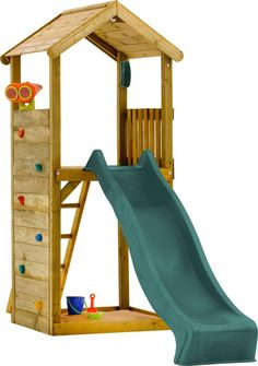 Plum Play Wooden Lookout Tower Only available in UK :( - Backyard Garden Diy Kids Kids Outdoor Play, Kids Play Area, Backyard For Kids, Backyard Projects, Backyard Play Areas, Backyard Playset, Playset Diy, Build A Playhouse, Backyard Playground