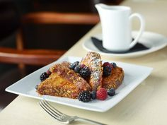 "Cornflake Crusted French toast at Simon's Sunday ""PJ Brunch.""  Wear your pajamas and enjoy the Bloody Mary Bar! #vegas #brunch"