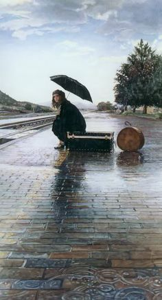 Sitting quietly in the rain....