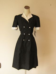 Black Diner Waitress Uniform Dress also cute
