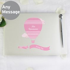 Personalise this Guest Book with a message over 4 lines of up to 20 characters per line.