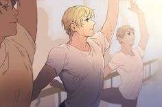 Headcannon: Russia has practiced at the Russian ballet ever since it opened. He can do point and has gotten many lead roles in their productions.