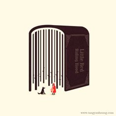 magazine illustration arts design 2 Little Red Riding Hood TYH Tang Yau Hoong The Art of Negative Space Tang Yau Hoong, Chez Laurette, Little Red Hood, Negative Space Art, Space Artwork, Space Illustration, Conceptual Illustrations, Creative Illustration, Business Illustrations