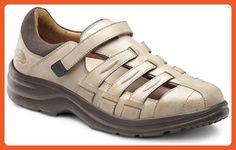 ef815bb77a45 Dr. Comfort Women s Breeze Light Gold Diabetic Fisherman Sandals - Sandals  for women (