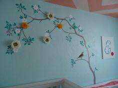 Project Nursery - Chevron Ceiling Nursery Tree Decal