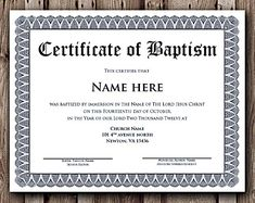 Free printable baptism certificate template prayers for Free water baptism certificate template