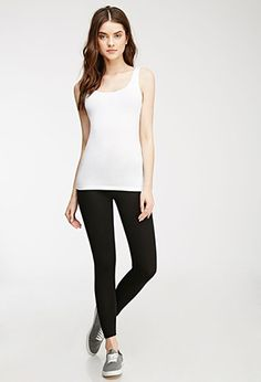 Classic Leggings | Forever 21   Just buy like 20 and that's all you need for fall and winter!! Goes great with ankle boots!