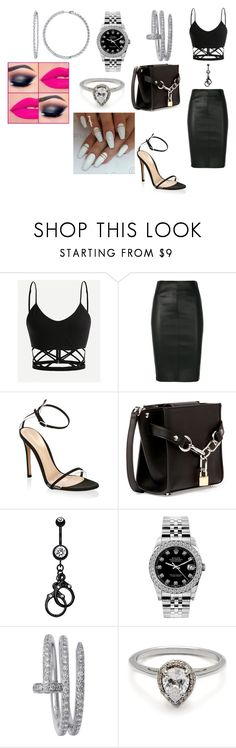 """""""Mentally Caged"""" by colorfulnay on Polyvore featuring Drome, Gianvito Rossi, Alexander Wang, Rolex and Cartier"""