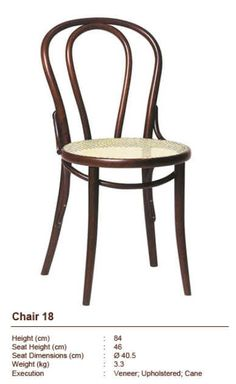 Bentwood Chair 18 with cane seat www.limtecklee.com